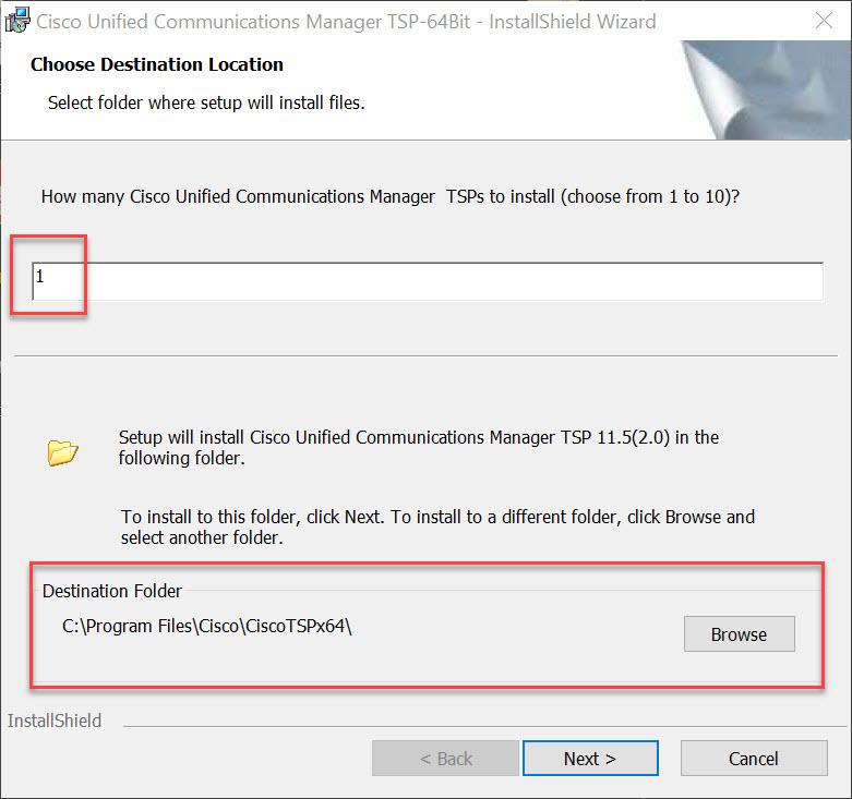 cisco-Installation-TSP-Zielordner